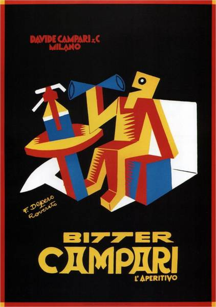 Bauhaus Mixed Media - Bitter Campari - Aperitivo - Vintage Beer Advertising Poster by Studio Grafiikka