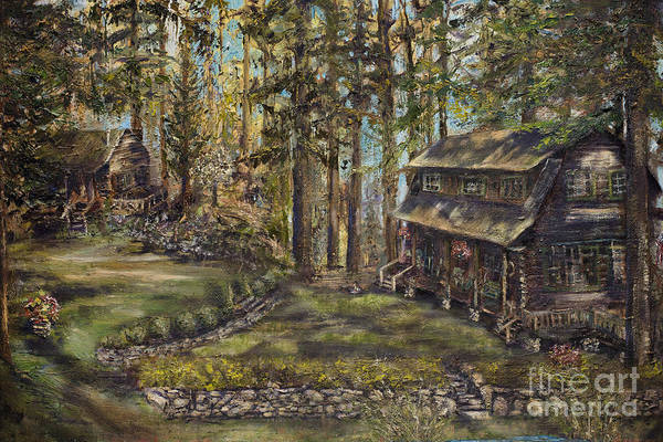 Cabin In The Woods Wall Art - Painting - Bitterroot Bliss by Jodi Monahan