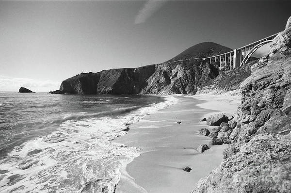 Photograph - Bixby Beach Looking North To Bixby Landing Circa 1987 by California Views Archives Mr Pat Hathaway Archives