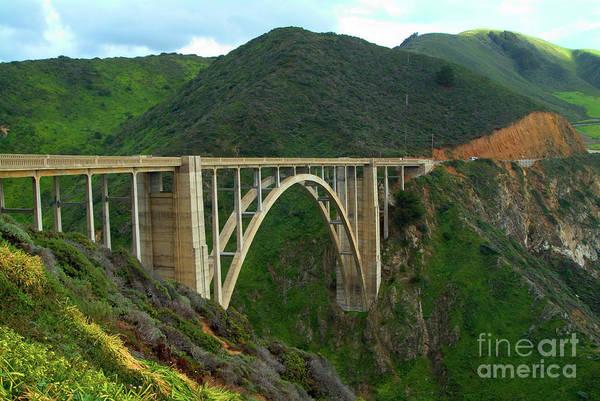 Photograph - Bixby Bridge In Big Sur by Charlene Mitchell
