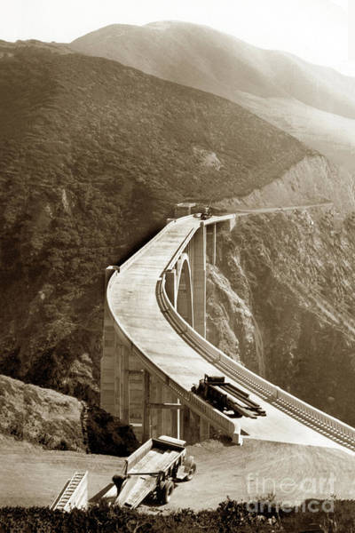 Photograph - Bixby Creek Bridge, Big Sur October 1932 by California Views Archives Mr Pat Hathaway Archives