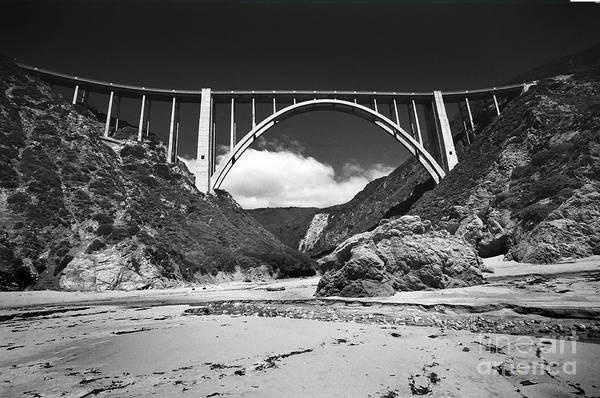 Photograph - Bixby Creek Bridge For Bixby Beach  1987 by California Views Archives Mr Pat Hathaway Archives