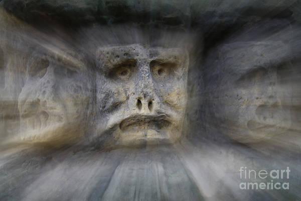Wall Art - Photograph - Bizarre Stone Heads - Rock Sculptures - In Zoom by Michal Boubin