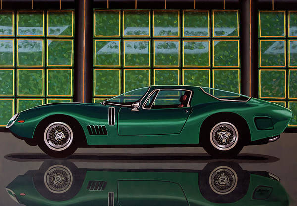 Wall Art - Painting - Bizzarrini 5300 Gt Strada 1965 Painting by Paul Meijering