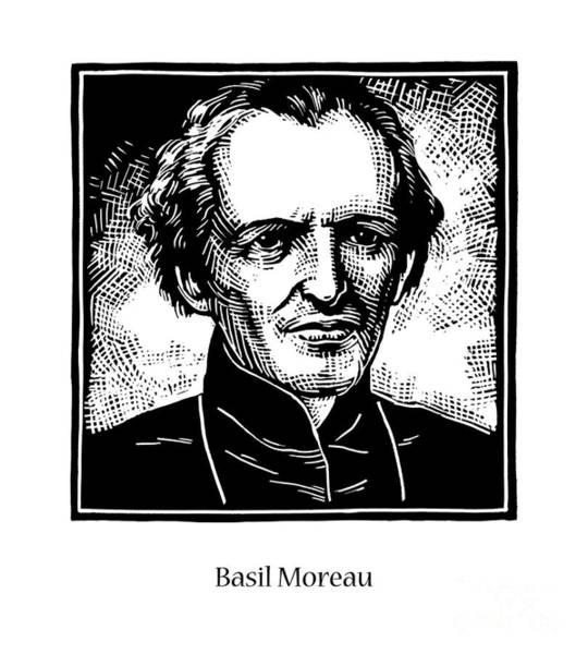 Painting - Bl. Basil Moreau - Jlbam by Julie Lonneman