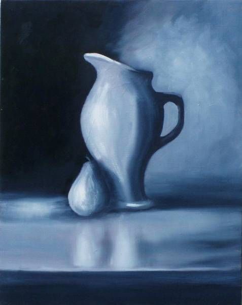 Painting - Black - White Pitcher by Gene Gregory