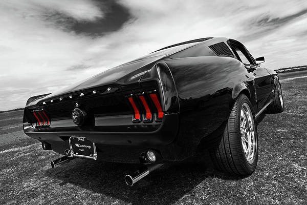 Photograph - Black 1967 Mustang by Gill Billington