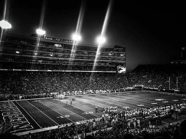 Wall Art - Photograph -  Wisconsin Game 2017 Black And White by Kyle Mock