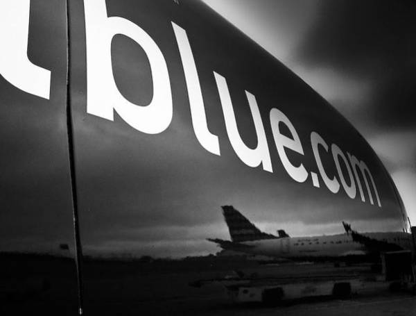Jetblue Wall Art - Photograph - Black And Blue by Michael J Lukas