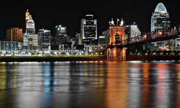 Wall Art - Photograph - Black And Color Cincinnati by Frozen in Time Fine Art Photography