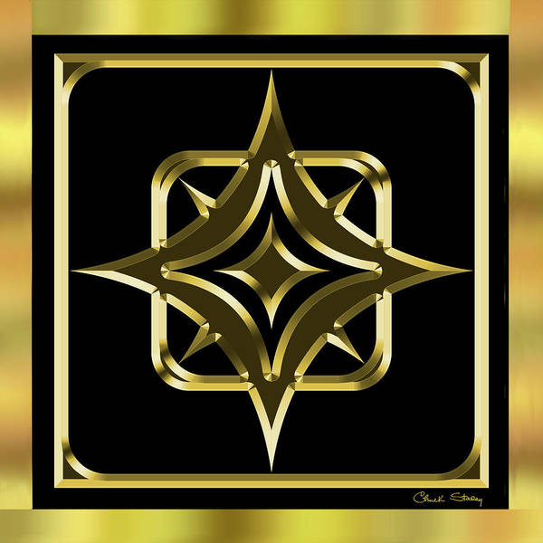 Digital Art - Black And Gold 10 by Chuck Staley