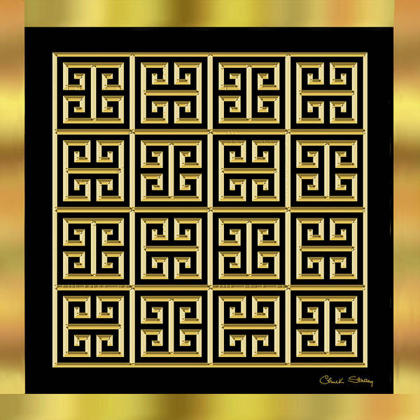 Digital Art - Black And Gold 11 by Chuck Staley