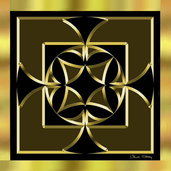 Digital Art - Black And Gold 13 by Chuck Staley