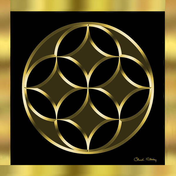 Digital Art - Black And Gold 2 by Chuck Staley