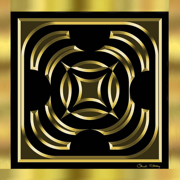 Digital Art - Black And Gold 3 by Chuck Staley