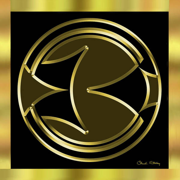Digital Art - Black And Gold 5 by Chuck Staley