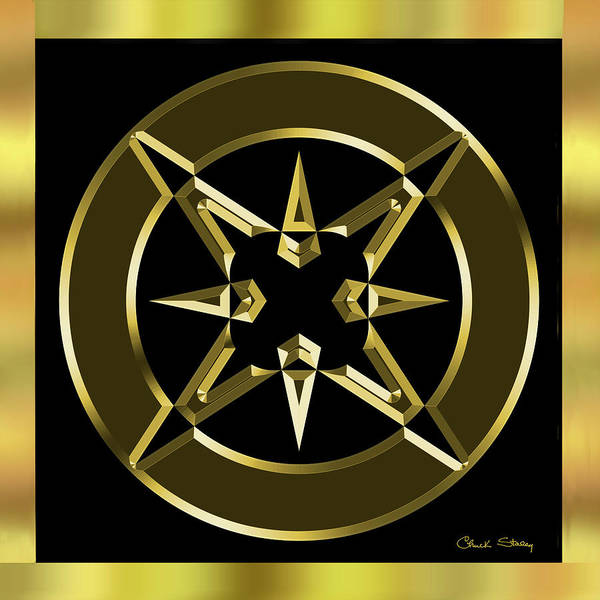 Digital Art - Black And Gold 7 by Chuck Staley