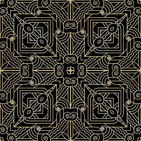 Digital Art - Black And Gold Art Deco Filigree 001 by Ruth Moratz