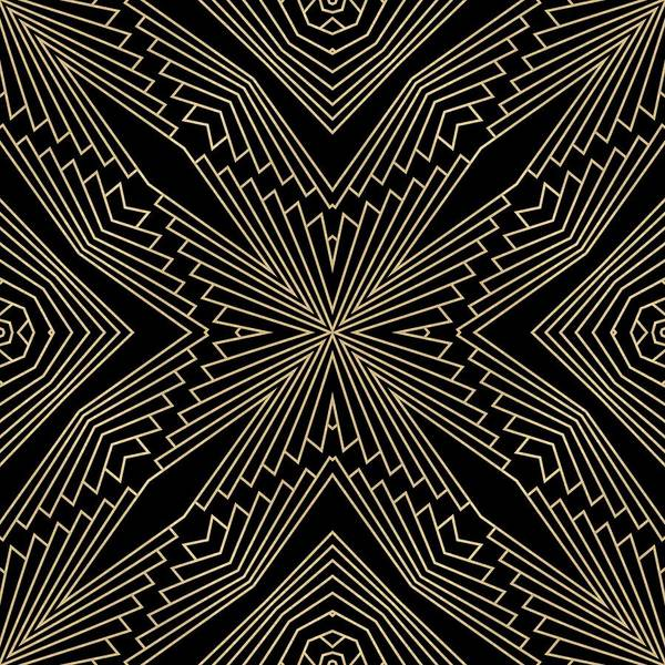 Digital Art - Black And Gold Art Deco Filigree 003 by Ruth Moratz