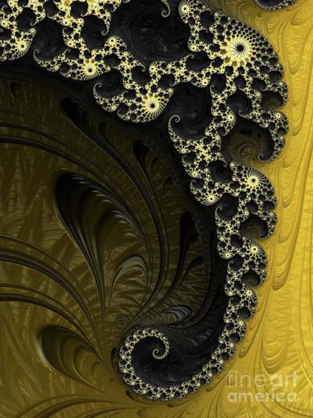 Digital Art - Black And Gold Elegance by Elaine Teague