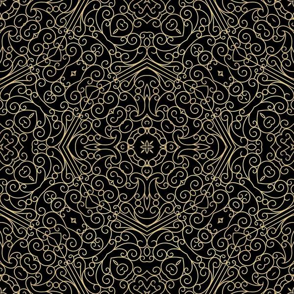 Digital Art - Black And Gold Filigree 002 by Ruth Moratz