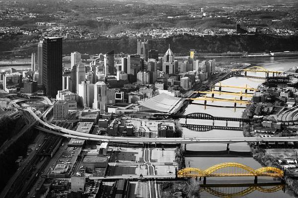 Black And Gold Pittsburgh  Art Print
