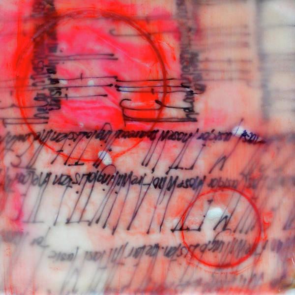 Non Representational Painting - Black And Red Encaustic 3 by Nancy Merkle