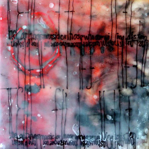 Non Representational Painting - Black And Red Encaustic 4 by Nancy Merkle