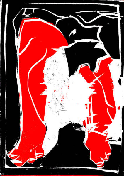 Digital Art - Black And Red Series - Birth 2 by Artist Dot