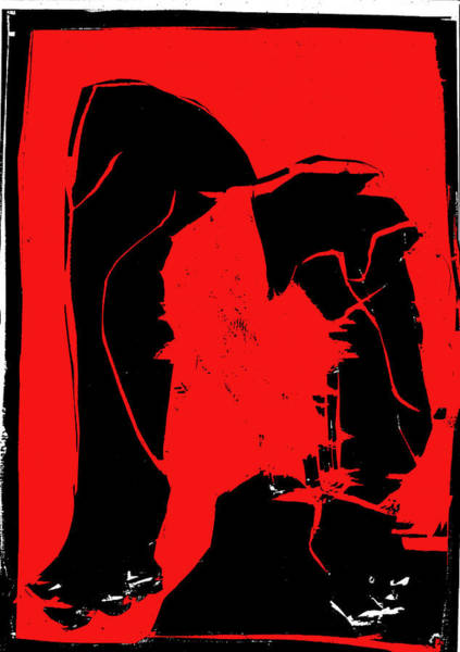 Digital Art - Black And Red Series - Birth by Artist Dot