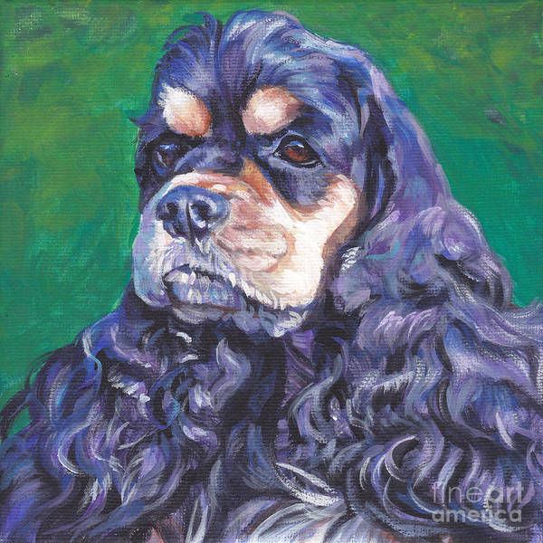 Cocker Spaniel Painting - black and tan Cocker Spaniel by Lee Ann Shepard