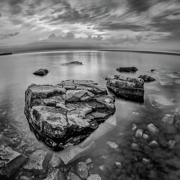Photograph - Black And Whiet Sunset by David Heilman
