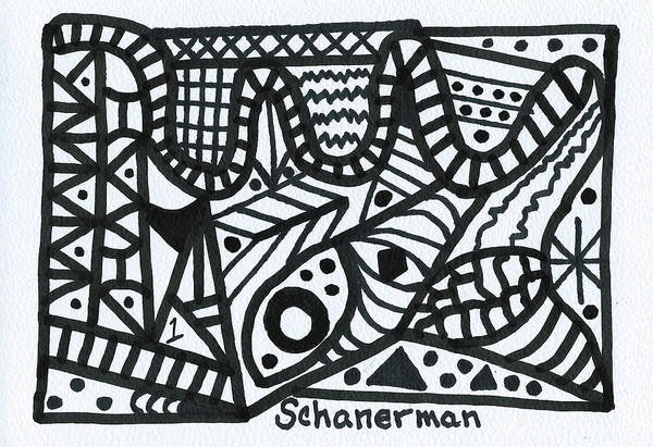 Drawing - Black And White 1 by Susan Schanerman