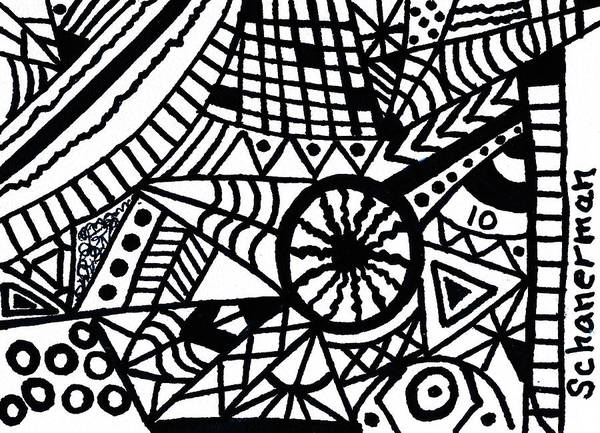 Drawing - Black And White 10 by Susan Schanerman