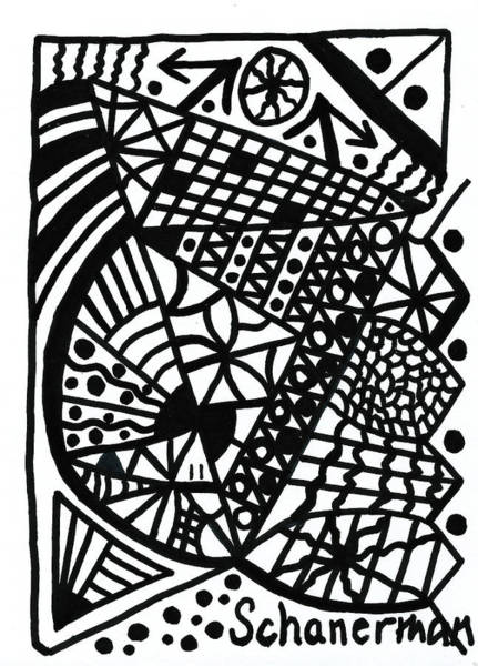Drawing - Black And White 11 by Susan Schanerman