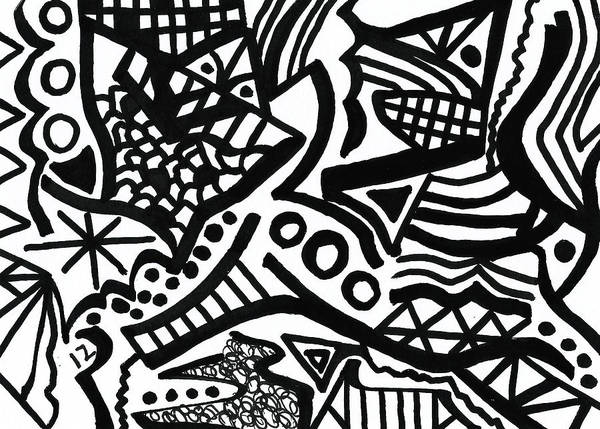 Drawing - Black And White 12 by Susan Schanerman