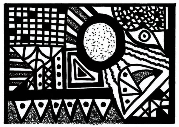 Drawing - Black And White 13 by Susan Schanerman
