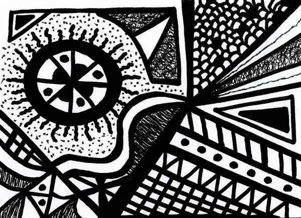 Drawing - Black And White 14 by Susan Schanerman
