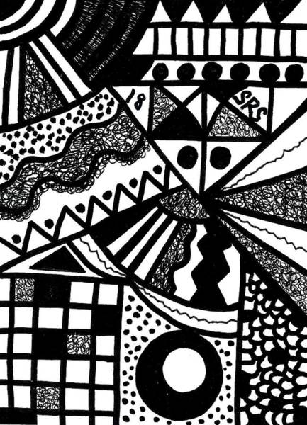 Drawing - Black And White 18 by Susan Schanerman