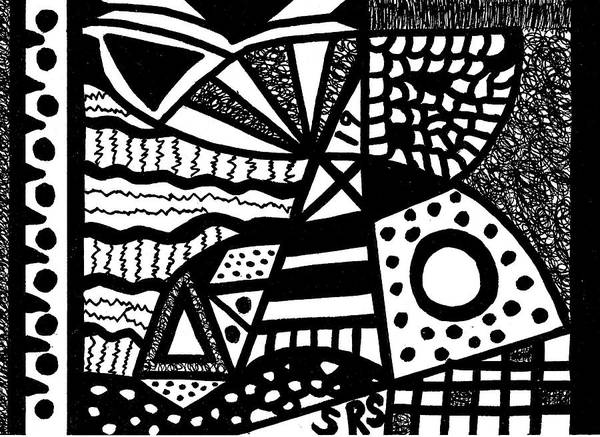 Drawing - Black And White 19 by Susan Schanerman