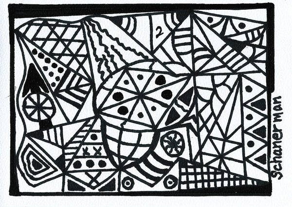 Drawing - Black And White 2 by Susan Schanerman