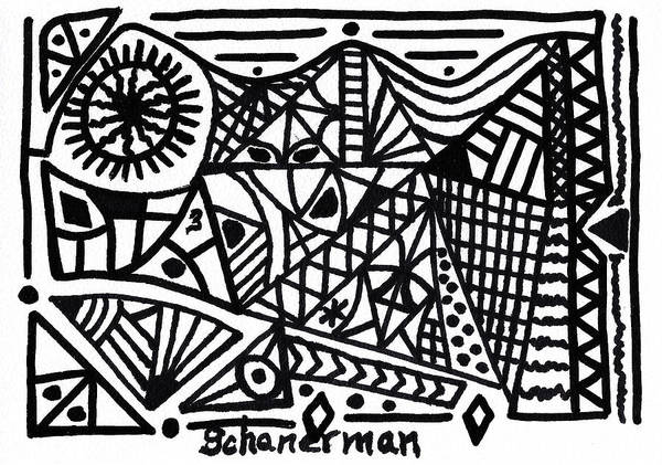 Drawing - Black And White 3 by Susan Schanerman