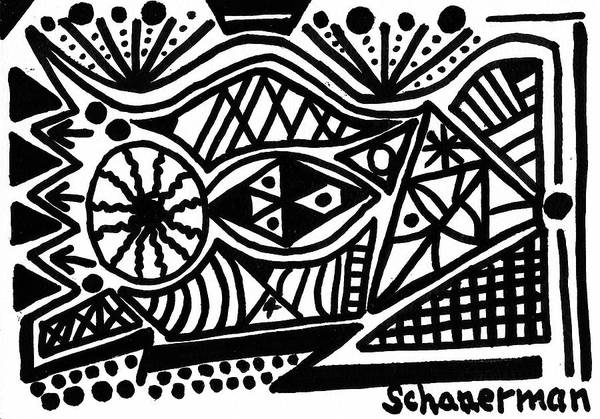 Drawing - Black And White 4 by Susan Schanerman
