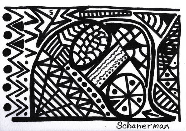 Drawing - Black And White 5 by Susan Schanerman