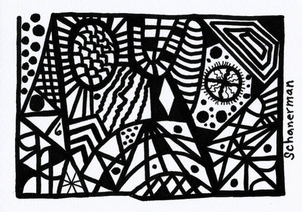 Drawing - Black And White 6 by Susan Schanerman