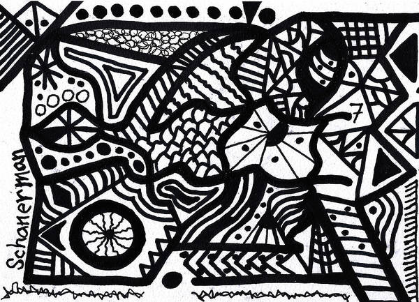 Drawing - Black And White 7 by Susan Schanerman