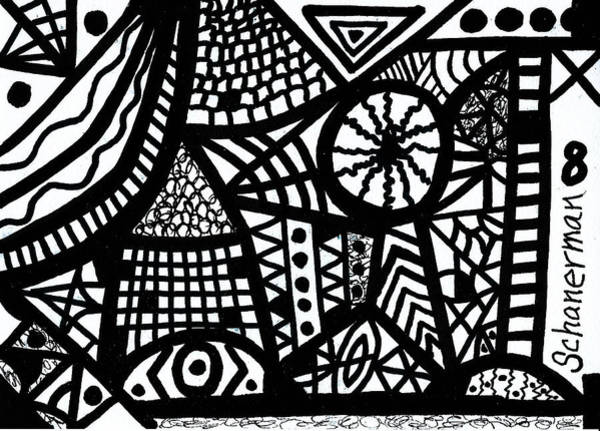 Drawing - Black And White 8 by Susan Schanerman