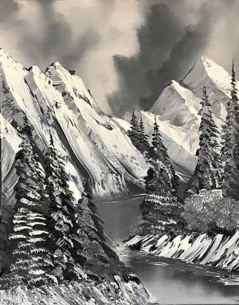 Wall Art - Painting - Black And White Alaska by Willy Proctor