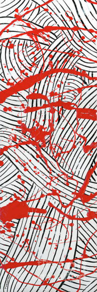 Black And White And Red All Over 1 Art Print