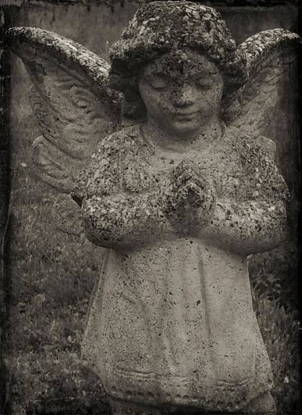 Photograph - Black And White Angel by Christine Paris